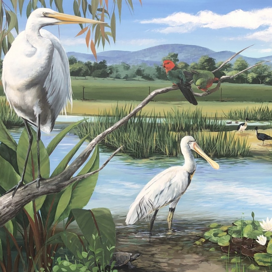 Melbourne Murals Outdoor Wetlands Mural